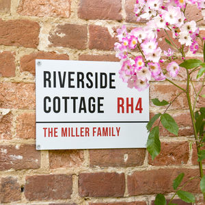 Personalised Stainless Steel House Name Sign - what's new