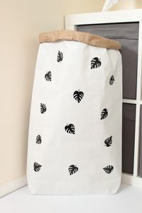 Leaf Pattern Paper Storage Bag