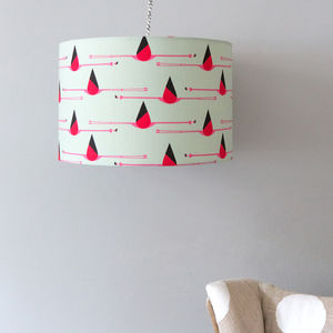 Flamingo Drum Pendant Lampshade - lamp bases & shades