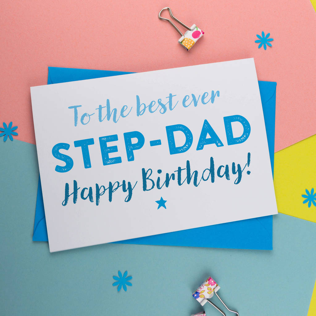 best step dad or father birthday card by a is for alphabet – Step Dad Birthday Cards