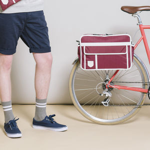 Retro Style Messenger Bag / Bicycle Pannier - bags & cases