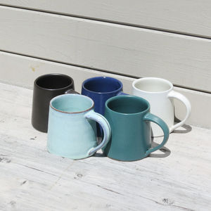 Fairtrade Handmade Glazed Stoneware Mug - mugs