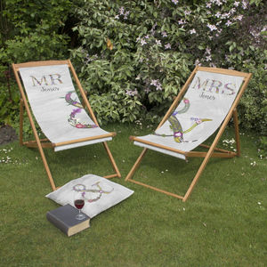 Couples Matching Deckchairs - gifts for couples