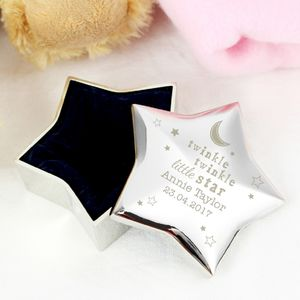 'Twinkle Little Star' Personalised Trinket Box