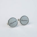 Personalised Silver Identity Cufflinks