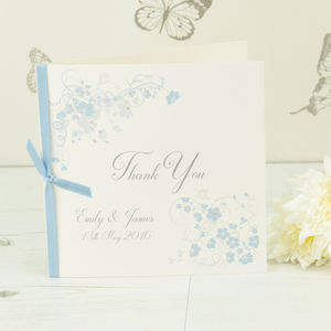 10 Personalised Jessica Thank You Cards