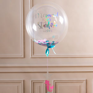 Personalised Mermaid Confetti Filled Balloon - outdoor decorations