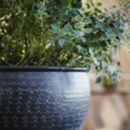 Faceted Blackened Planter