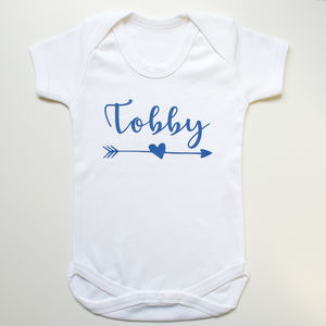 Personalised Arrow Cotton Bodysuit - babygrows