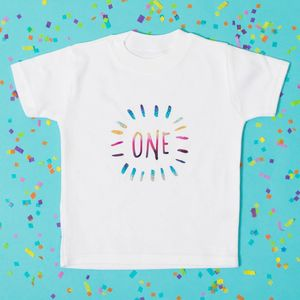 Childs Birthday Number Baby Grow Or T Shirt - tops & t-shirts