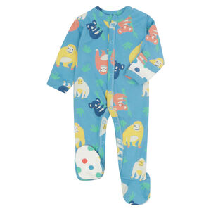 Orangutan Blue Footed Baby Sleepsuit