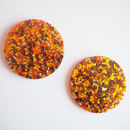 Colourful Sequin Coaster Set