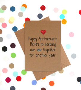 'To Many More' Funny Anniversary Card - anniversary cards