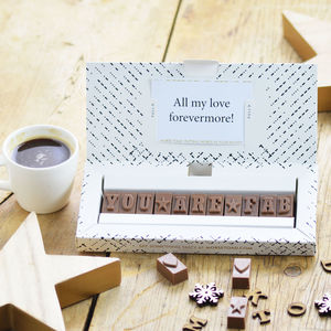 Personalised Chocolate Gift In A Small Box - chocolates