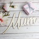 Wooden Mum Sign