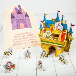 3D Wooden Castle Playset Kit And Personalised Gift Bag - traditional toys & games