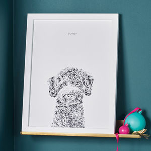Personalised Dog Portrait - gifts for families