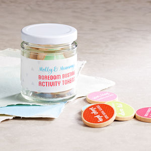 Personalised Mummy And Me Activity Tokens Jar