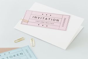 'You Are Invited' Ticket Invitation Pack Of 10 - wedding stationery