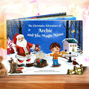 Personalised Christmas Story Book With Exclusive Cover - sale