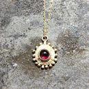 Sun Pendant Solid 9ct Yellow Eco Gold With Gemstone
