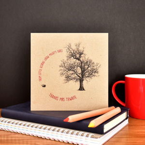 Personalised 'From Little Acorns' Teacher Card