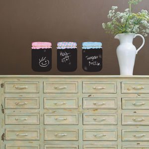 Chalkboard Jam Jars Wall Stickers - kitchen accessories