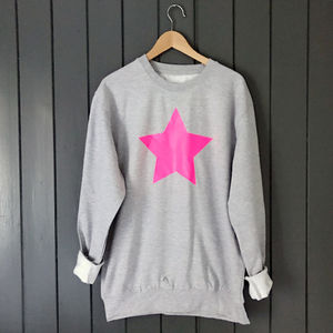 Neon Star Slouchy Sweat - gifts for her sale