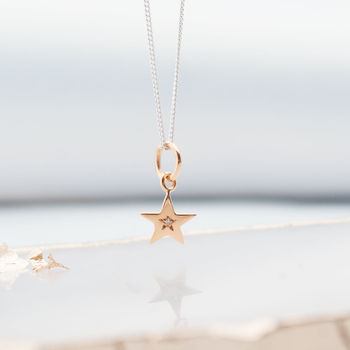 Diamond Rose Gold Star Necklace