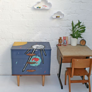 Sputnik Space Design Mid Century Drawers