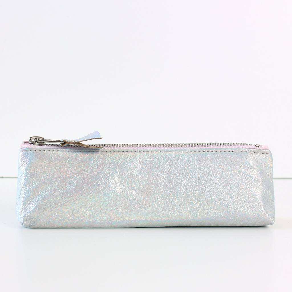 9afe3ff9683127 metallic leather makeup bag by suede co