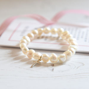 Personalised Girl's Christening Bracelet With Verse - more