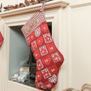 Personalised Giant Red Christmas Stocking Advent
