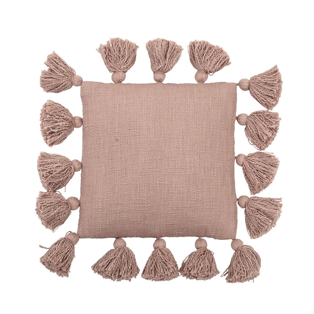 Pink Tassel Cushion By Idyll Home