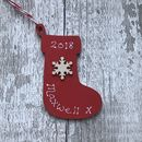 Personalised Stocking Christmas Decoration
