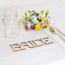 Wooden Bride And Groom Chair Back Signs