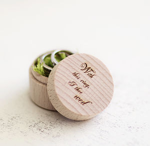 Personalised Ring Box - storage & organisers