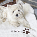 Personalised Dog Blanket