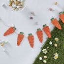 Wooden Carrot Shaped Easter Bunting Decoration Garland