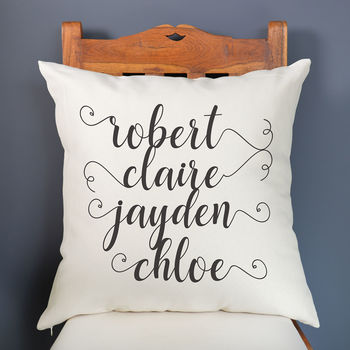 Personalised Family Names Cushion