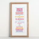 Christening Or New Baby Typographic Print