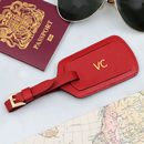 Luxury Italian Leather Personalised Luggage Tag