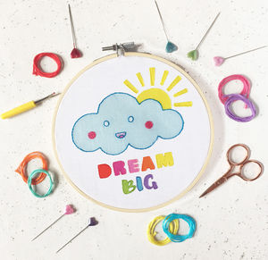 Dream Big Embroidery Craft Kit - new in home