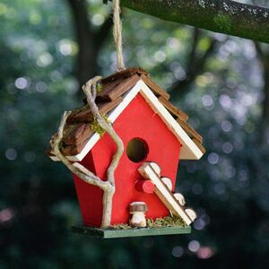Robin Red Petite Hanging Garden Bird House