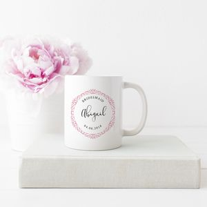 Personalised Ornate Wedding Mug