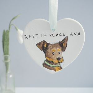 Dog Bereavement Memorial Personalised Gift