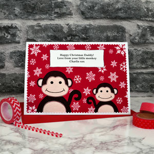 'Little Monkey' Christmas Card From Baby / Children