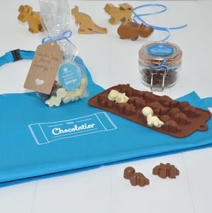 Personalised Dinosaur Chocolate Kit For Little Boys