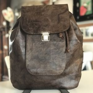 Leather Backpack - mens