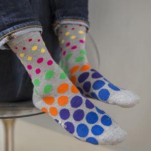 Multi Spot Fine Sock - underwear & socks